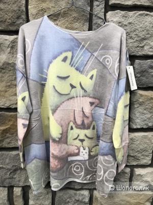 Джемпер свитер oversize FAMILY CAT, 42-54