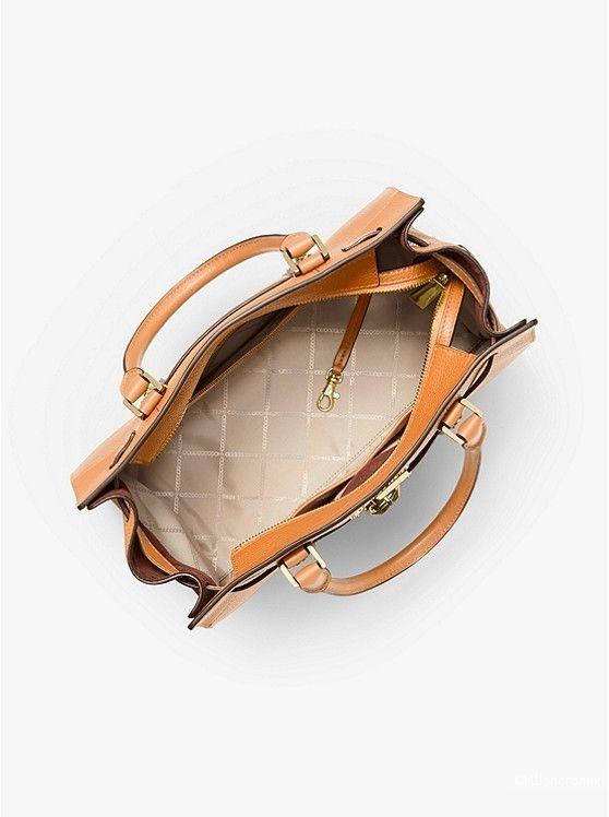 """Сумка """"Michael Kors"""" Nouveau Hamilton Large Pebbled Leather Satchel."""