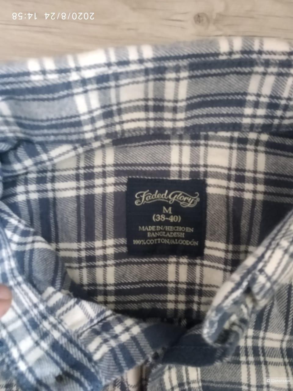 Рубашка Faded glory, размер M(38-40)