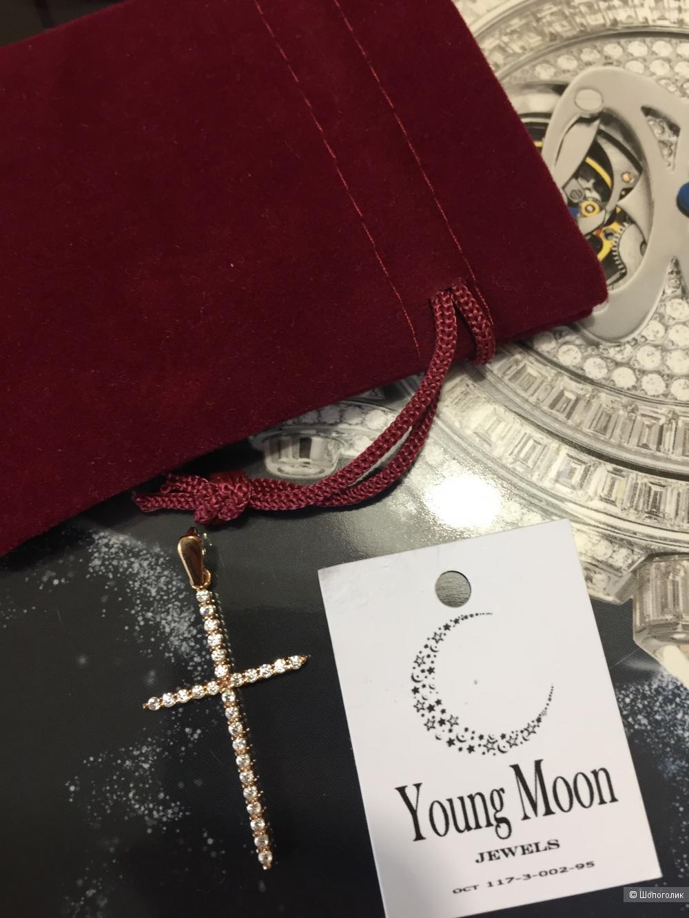 Подвеска серебряная с  фианитами Young Moon Jewels