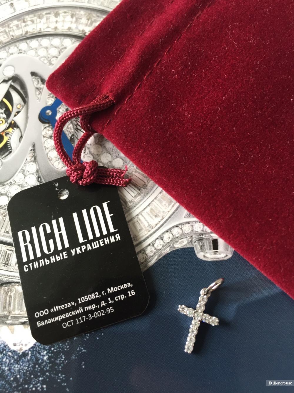 Серебряная подвеска Rich Line с цирконом