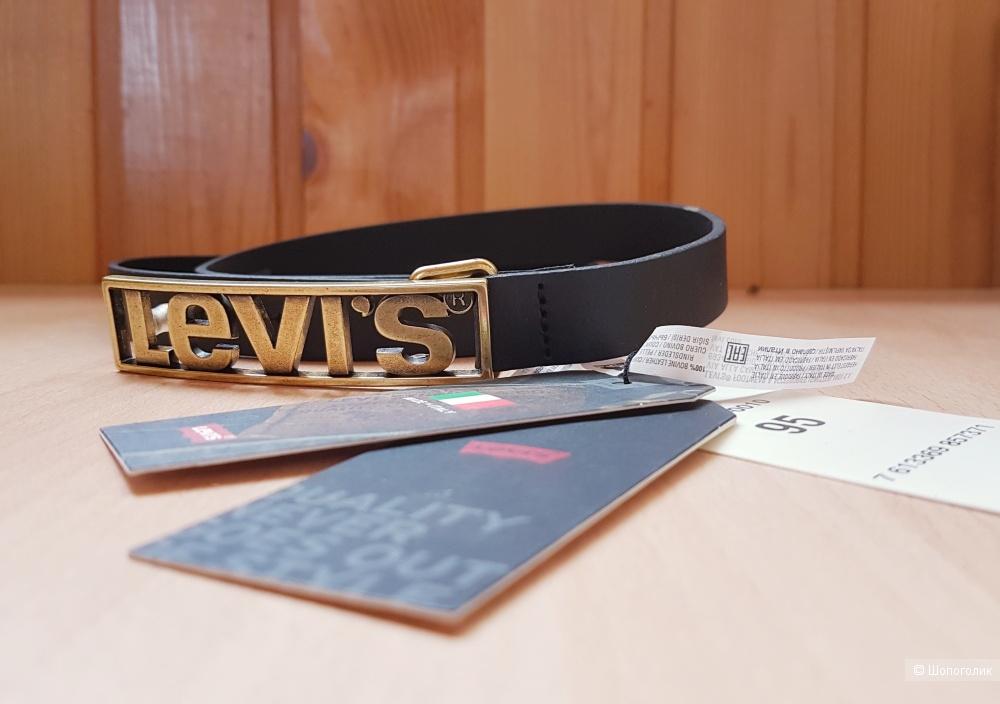 Кожаный ремень с логотипом Levi's, 95