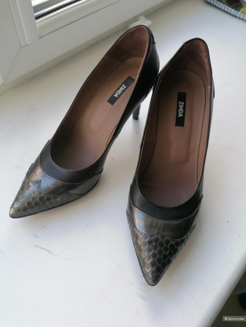 Кожаные туфли Zinda 39 размера
