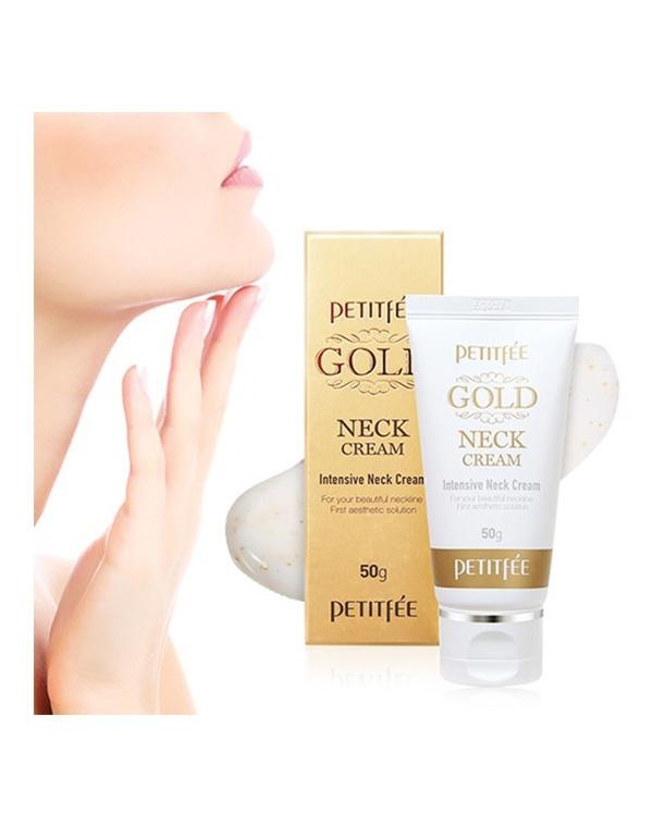 Омолаживающий крем для шеи с золотом Petitfee Gold Neck Cream