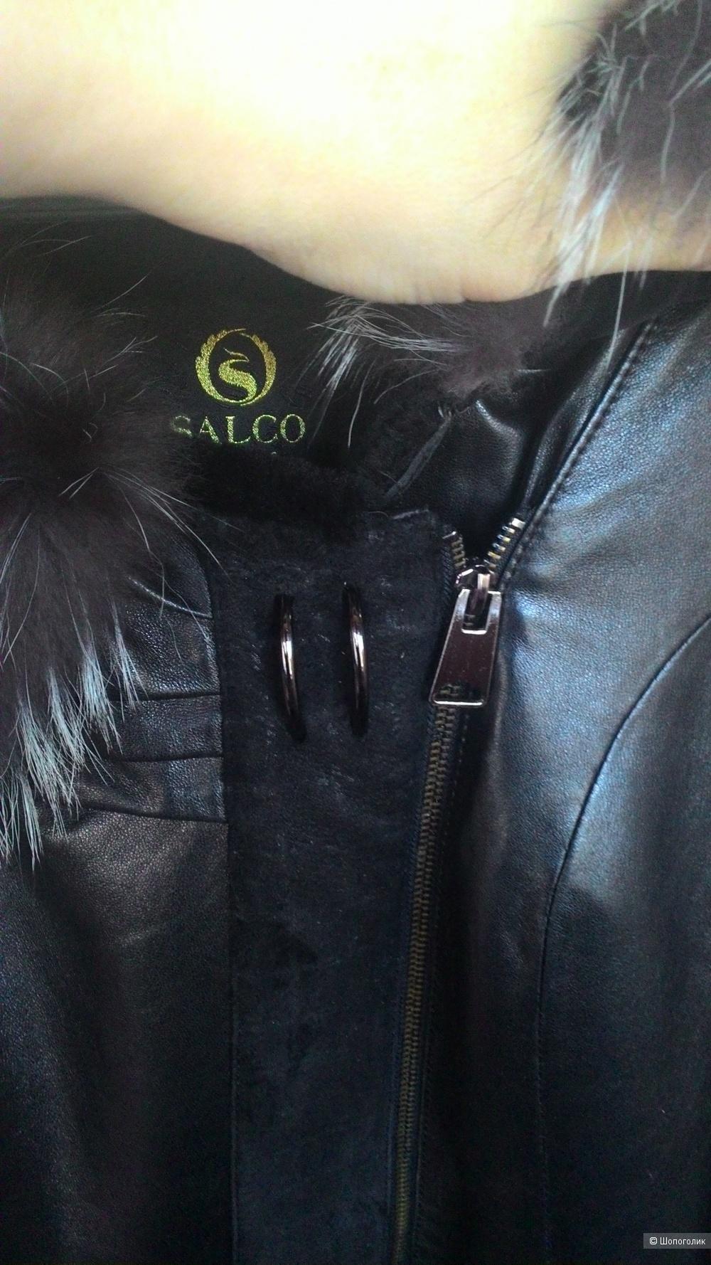 Пристраивается женская дубленка SALCO, 46 российский