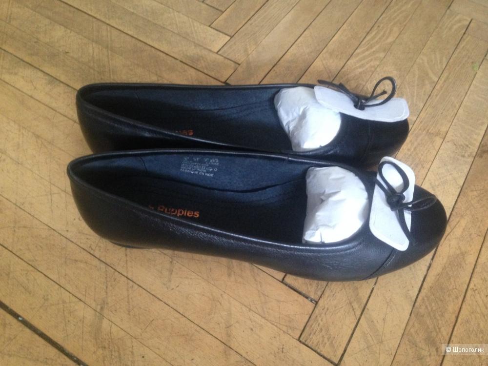 Кожаные балетки Hush Puppies размер UK 9,5 (40,5)