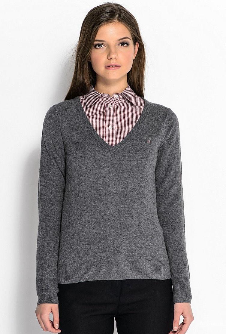 Зеленый пуловер Gant размер 46-48