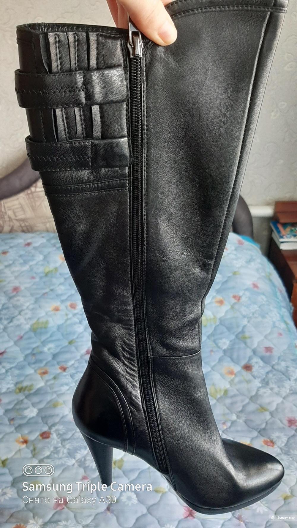 Сапоги кожаные деми новые р-р 37,5-38,5, no name