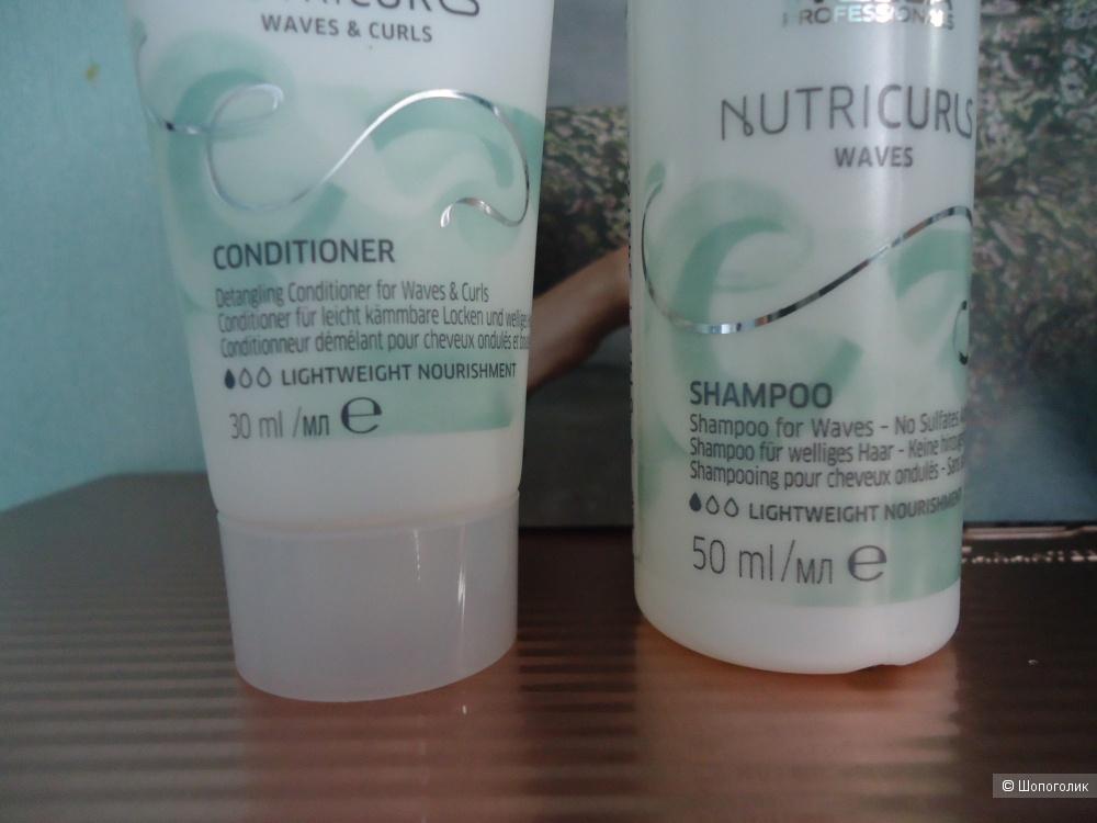 Шампунь+кондиционер для вьющихся волос Wella 50+30мл