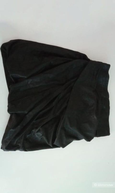 Кожаная юбка All saints, размер XS-S