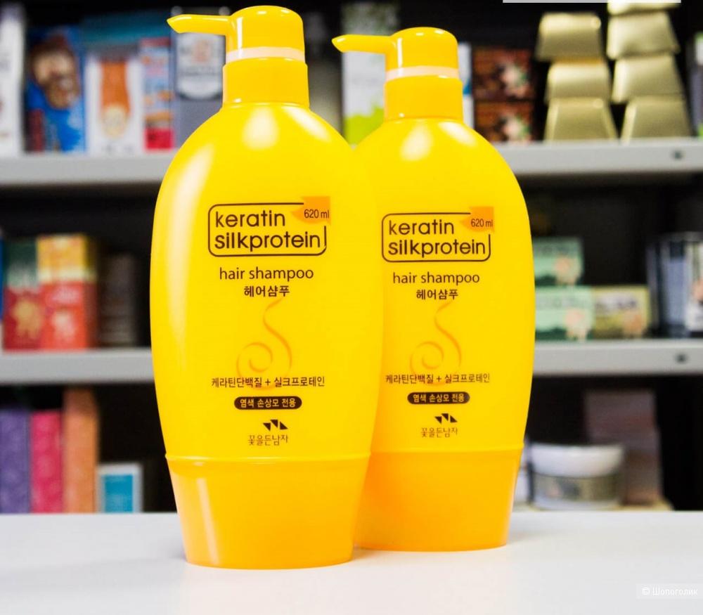 Шампунь с кератином и протеинами шелка Somang Keratin Silkprotein Hair Shampoo