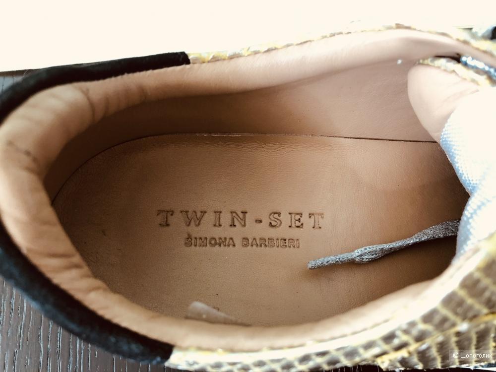 Кожаные Кроссовки Twin-Set, 39р