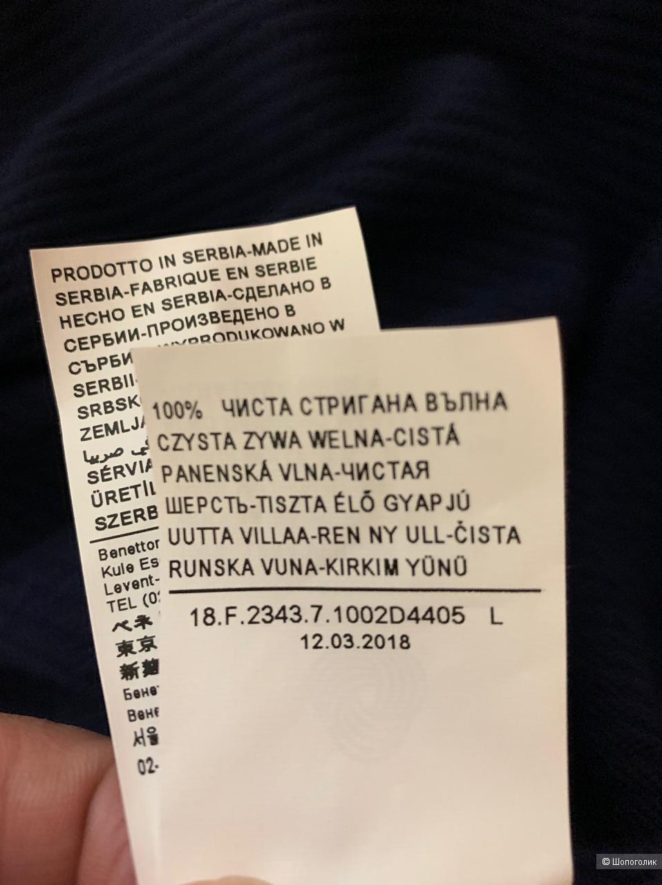 Benetton джемпер l/xl