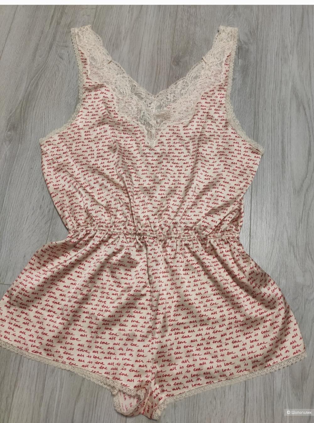 Шёлковая пижама-комбинезон бюстгальтер STELLA MCCARTNEY S
