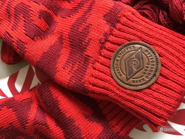 Набор подарочный шапка, шарф, варежки Спартак