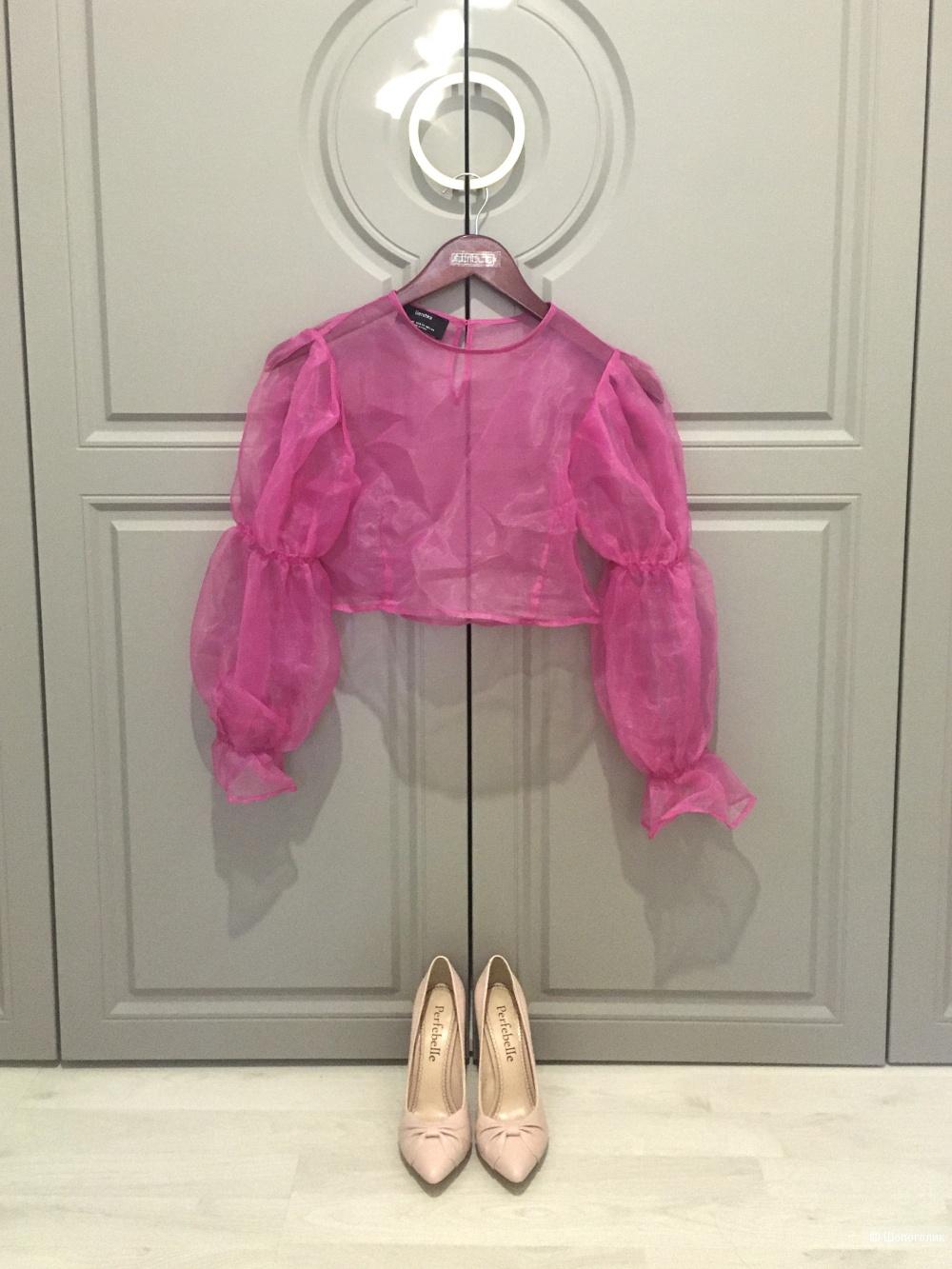 Розовые кожаные лодочки 36 размера