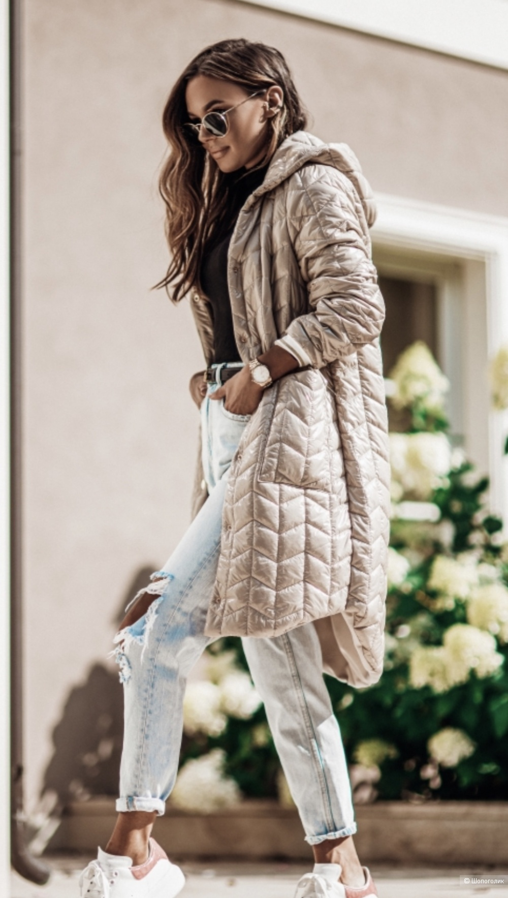 Пальто куртка стеганое COCOMORE, s,m,l