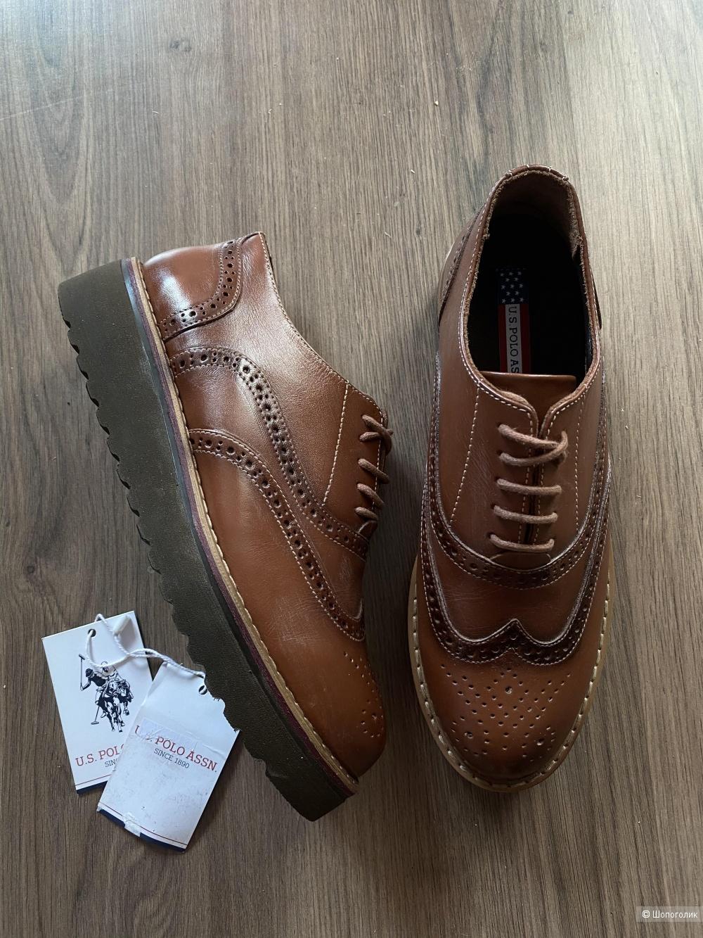 Кожаные ботинки US polo Assn, pp 39 25,5 cm