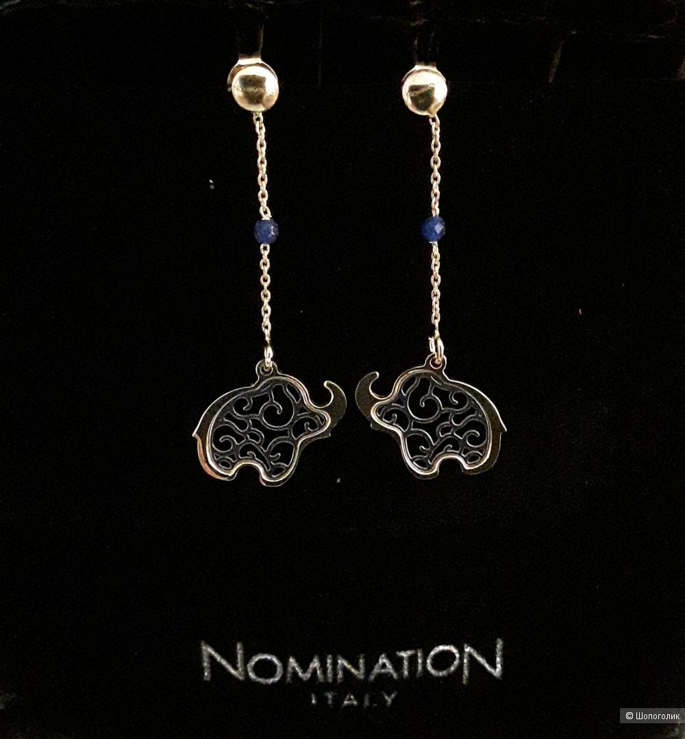 Серьги-подвески Nomination.