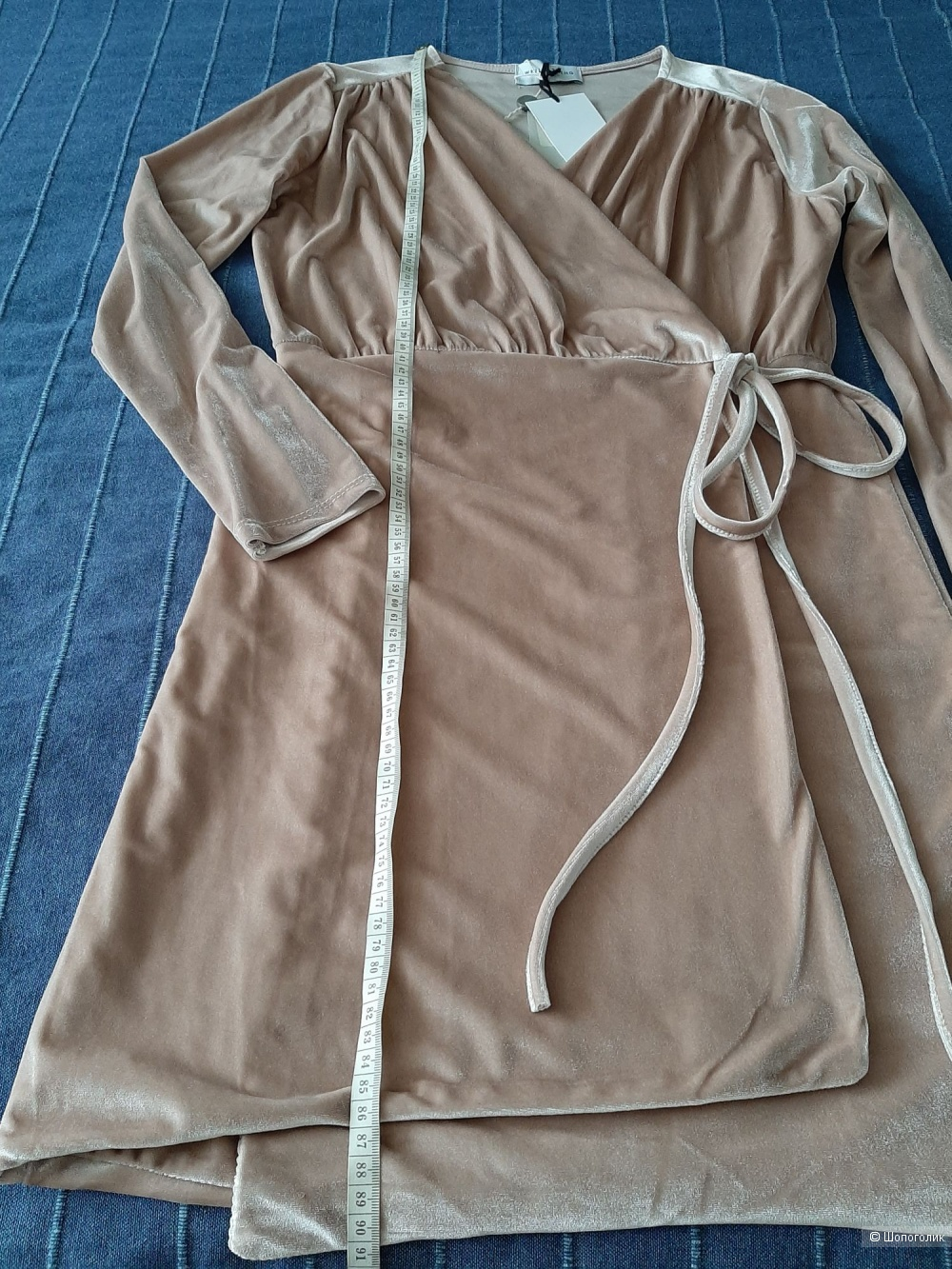 Бархатное платье WEILI ZHENG на 44+/-