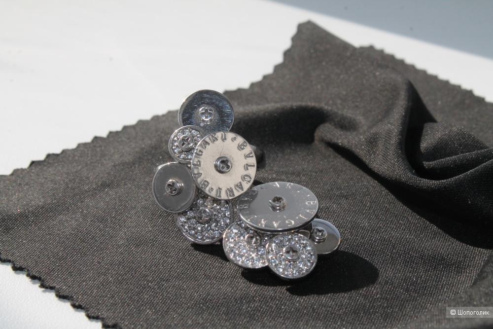 Серебряный комплект (кольцо+подвеска) BVLGARI