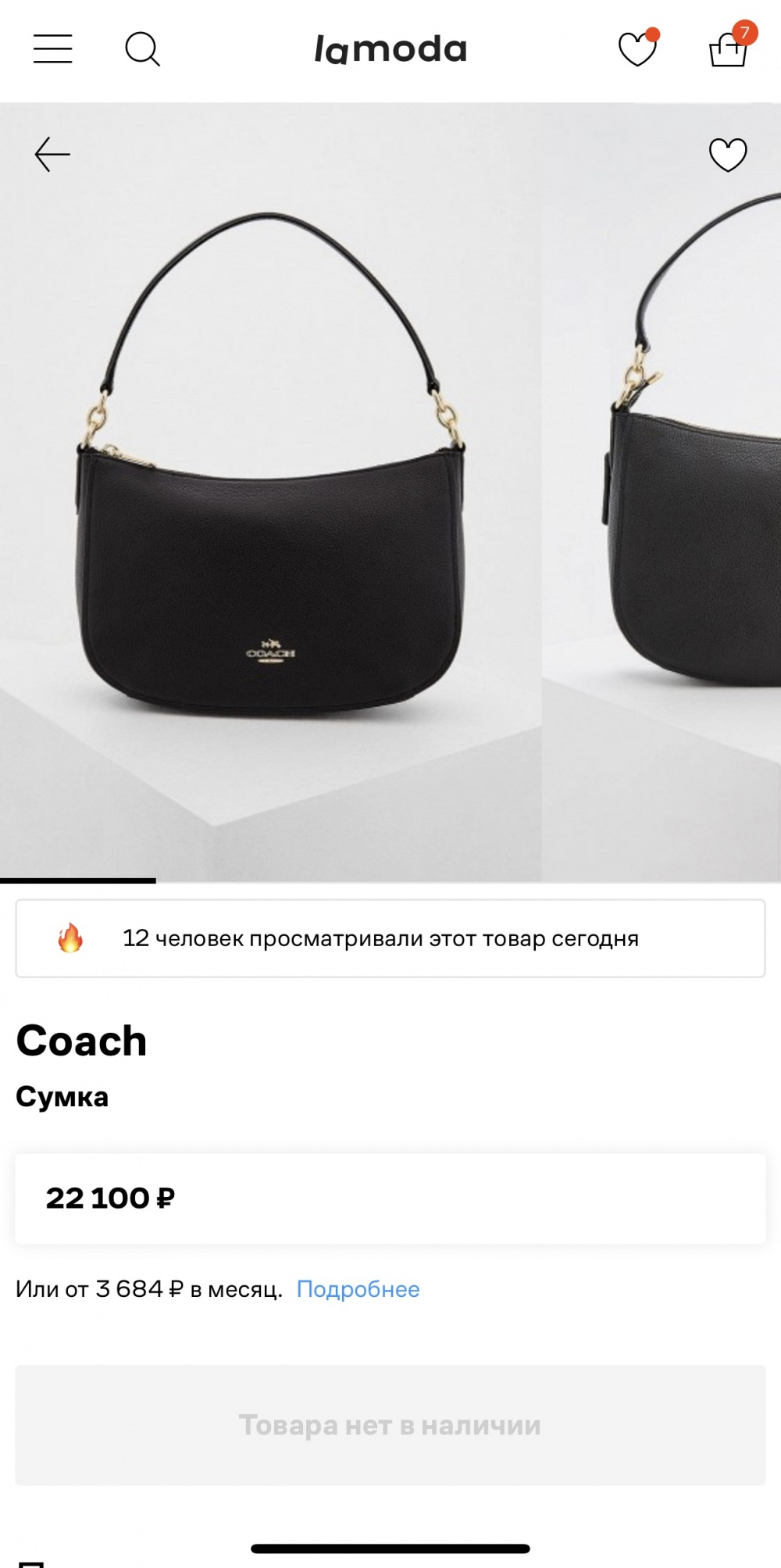 Сумка-хобо coach