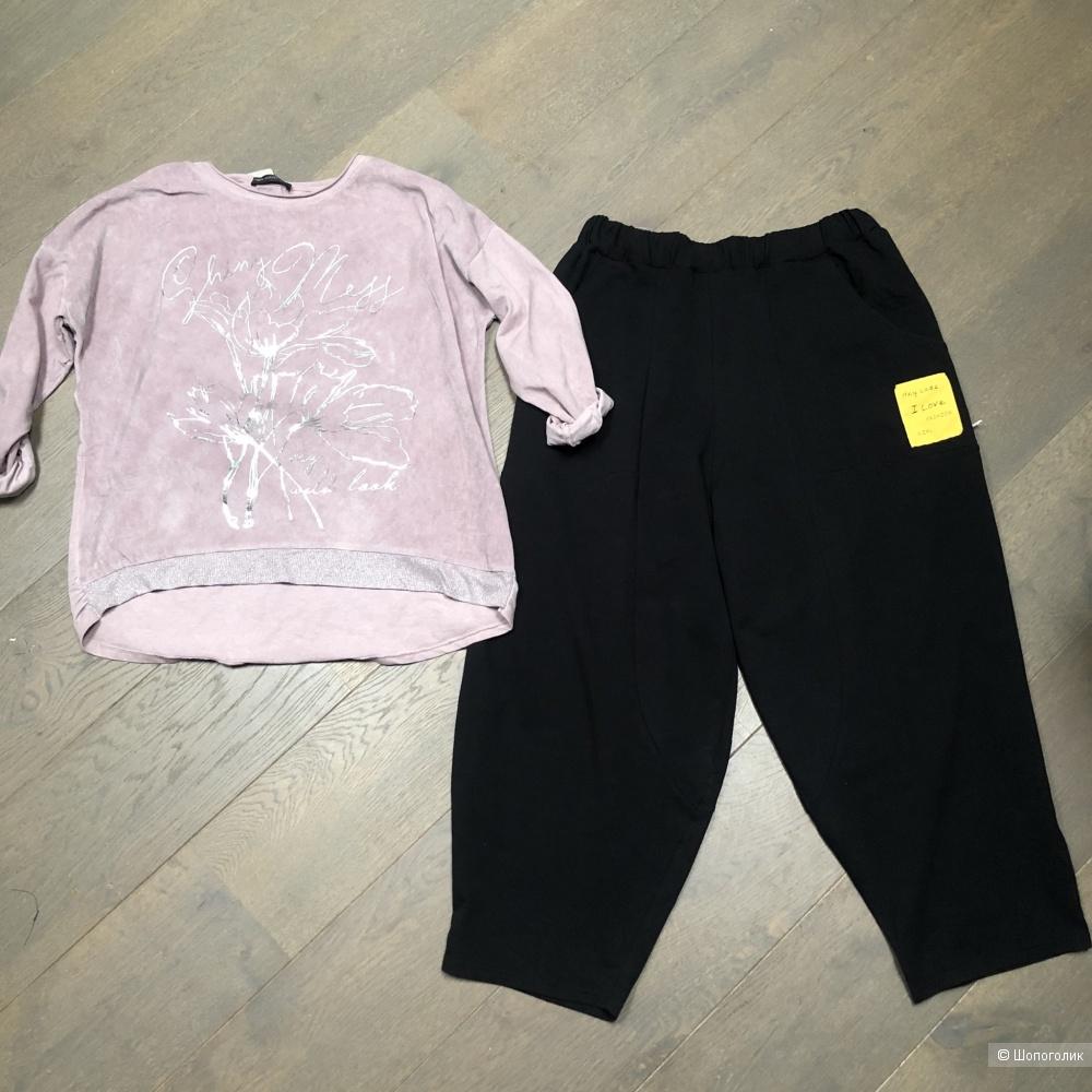 Комплект юбка/брюки свитшот/ джемпер, 44-56