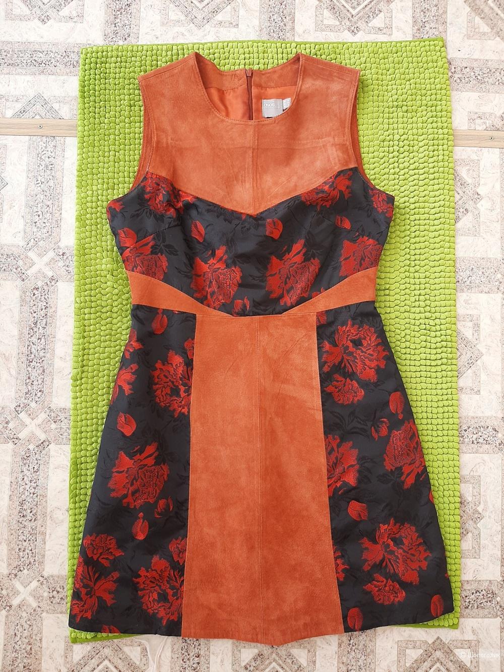 Платье из натуральной замши ASOS размер uk 12 (eu 40)