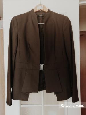 Костюм с юбкой Vassa&Co, шоколадный цвет, размер 46-48