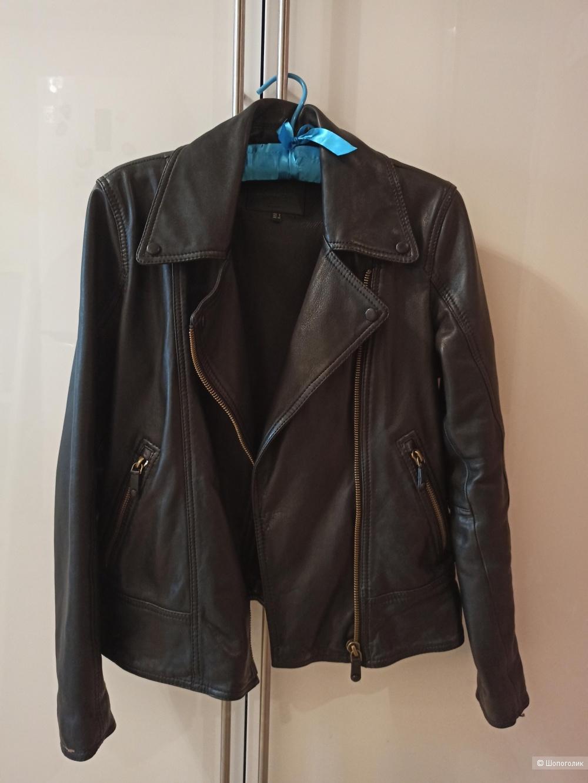 Куртка кожаная Massimo Dutti 42-44
