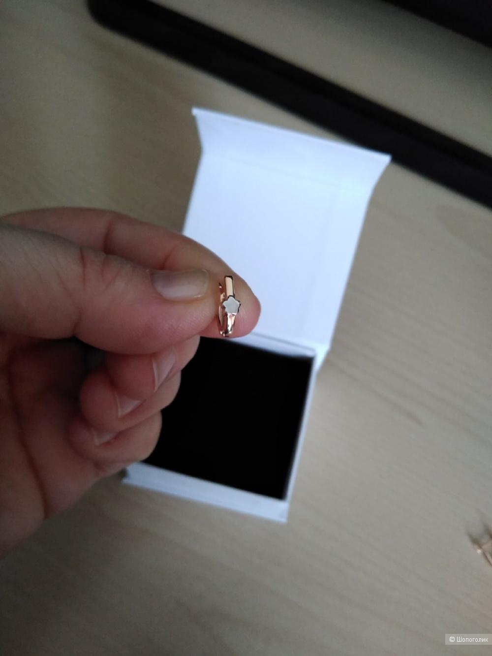 Серьги из красного/белого золота 585 пробы.