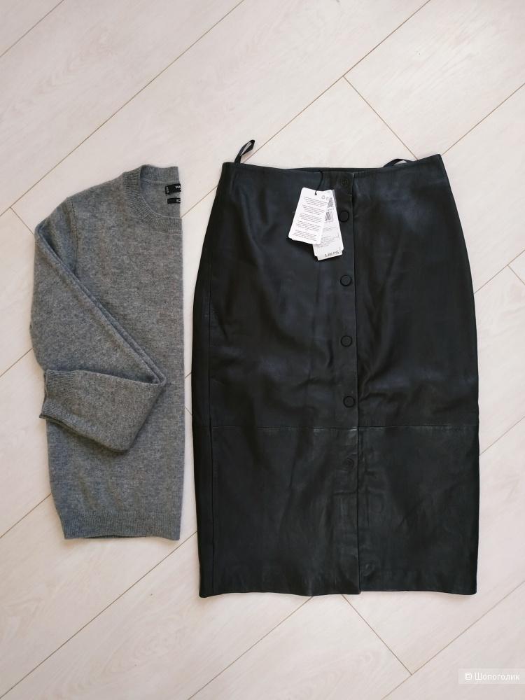 Новая кожаная юбка Mango 36 размер