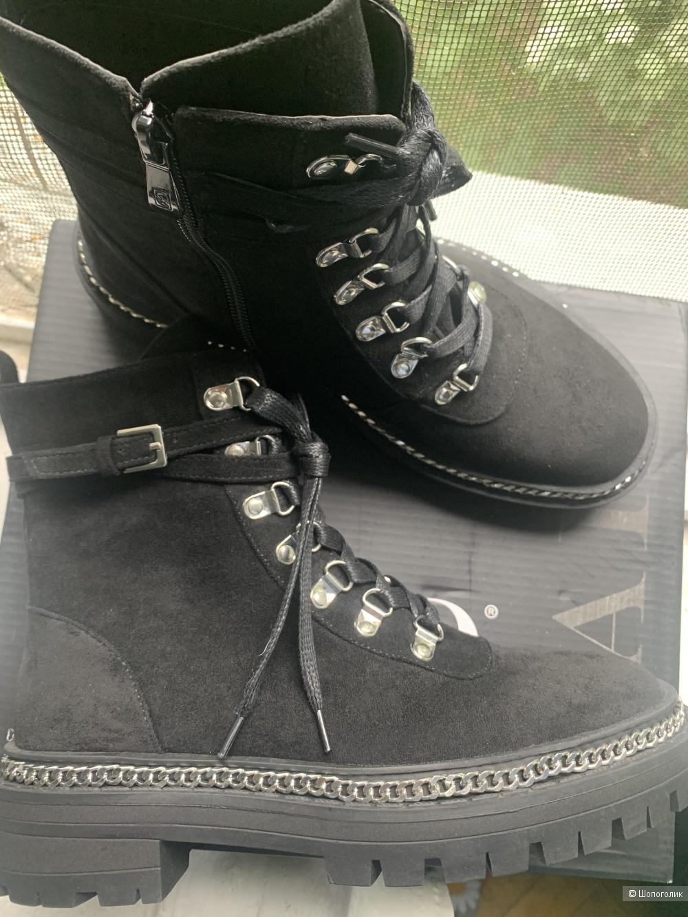 Черные ботинки с серебристой фурниторой Raid 38 UK5