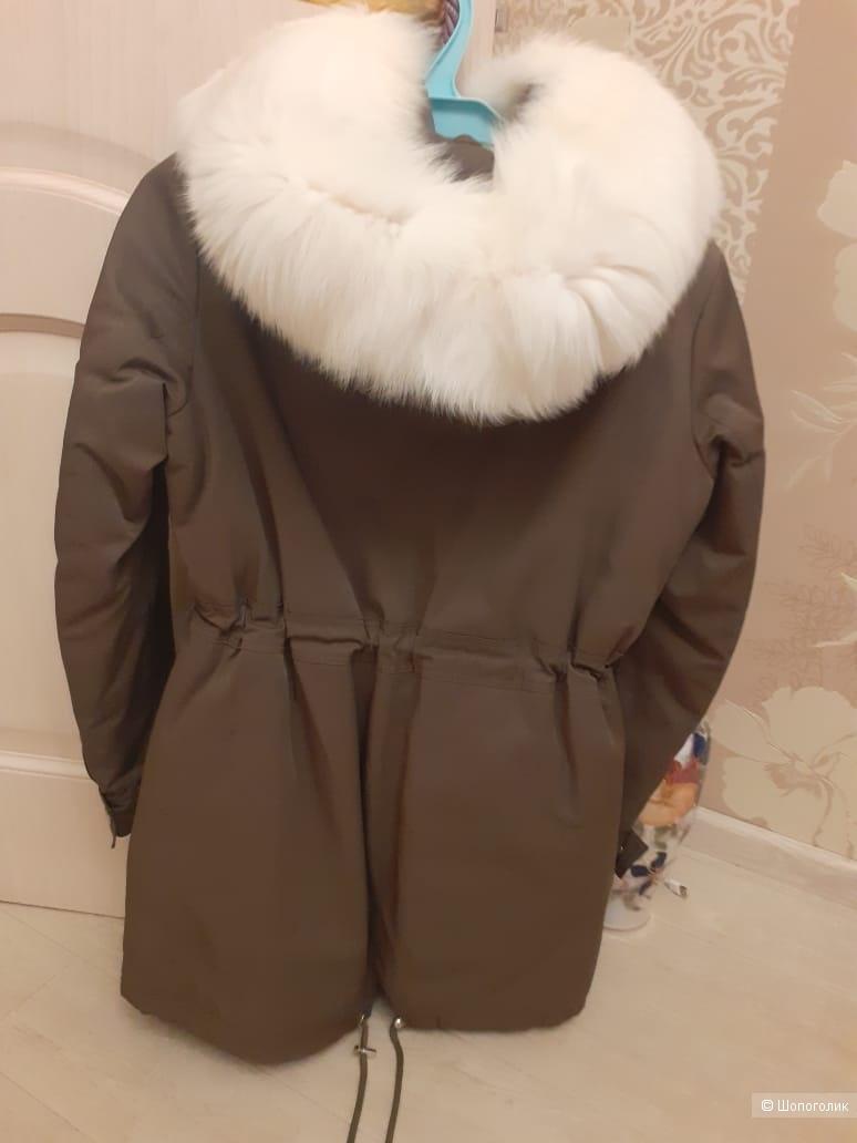 Парка зимняя ,Снежная королева ,44 размер
