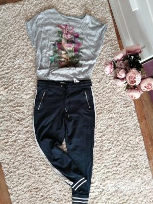 Сет брюки джоггеры ONLY, р-р L. футболка O. W. р-р L, XL