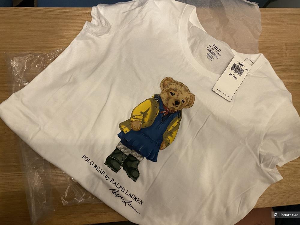 Футболка с медведем Polo Ralph Lauren девочк. XL (жен. 40-42)