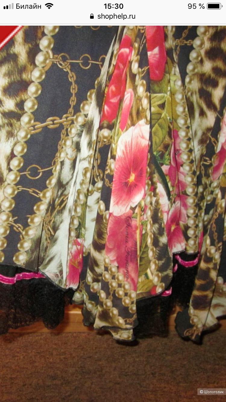Комплект юбка и блузка Sonia Fortuna, Италия,100 % шелк