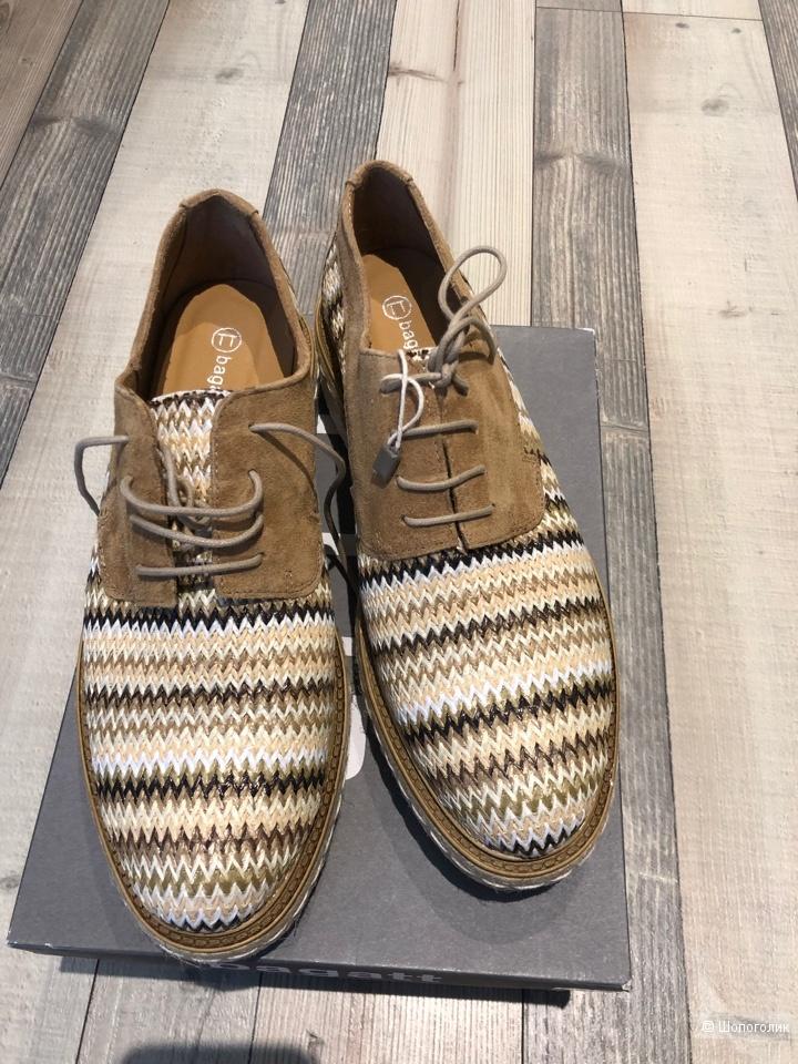 Туфли на шнуровке Вagatt, размер 39