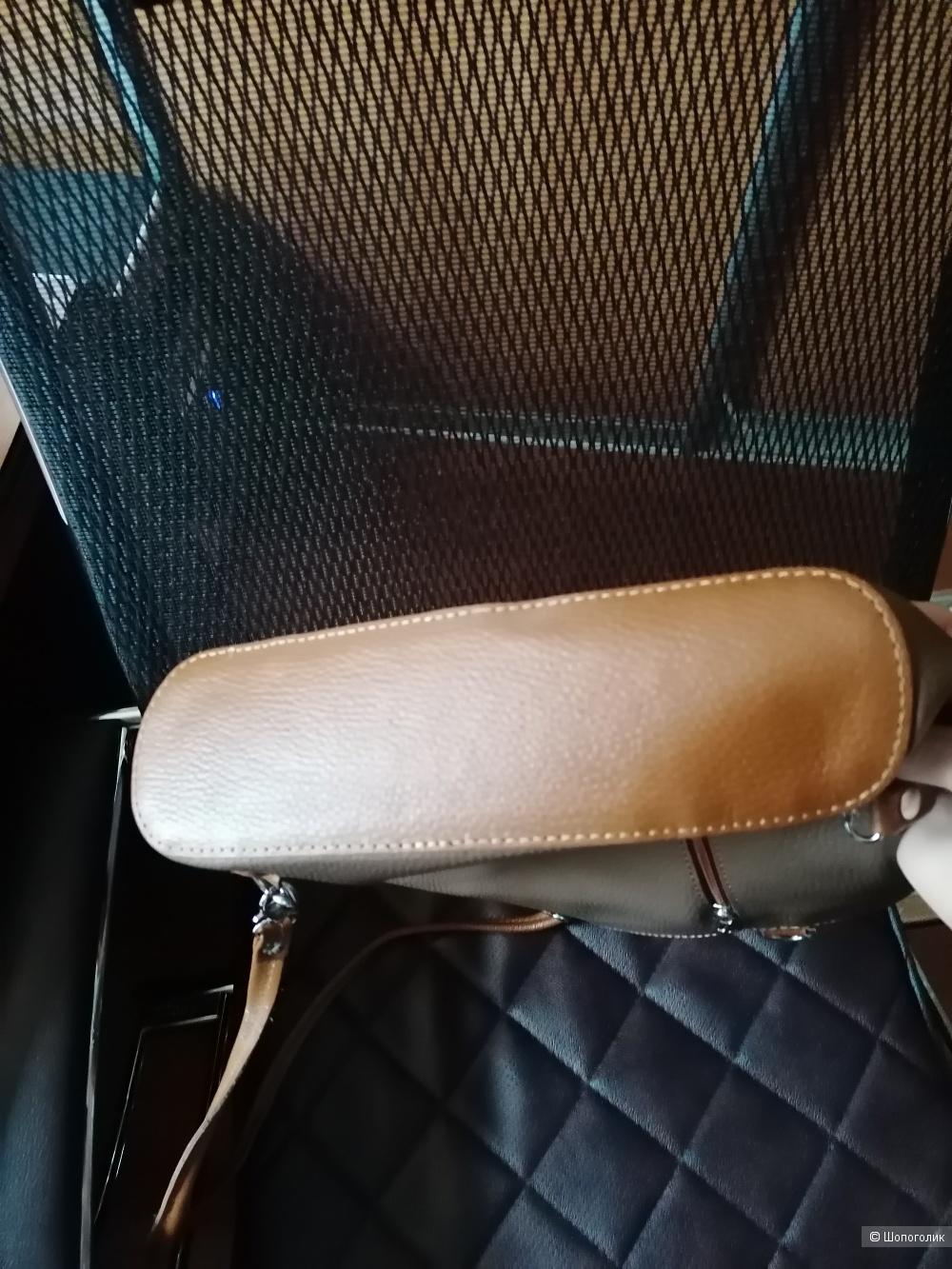 Кожаная сумка-рюкзак трансформер