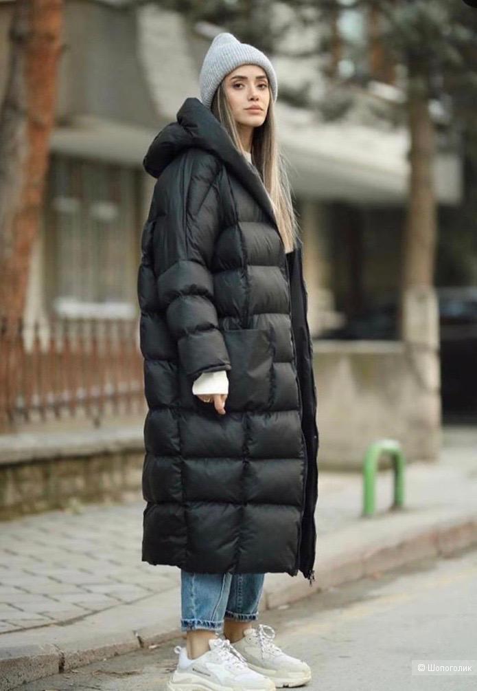 Пуховик пальто стеганое кокон-одеяло COCOON, 46-54