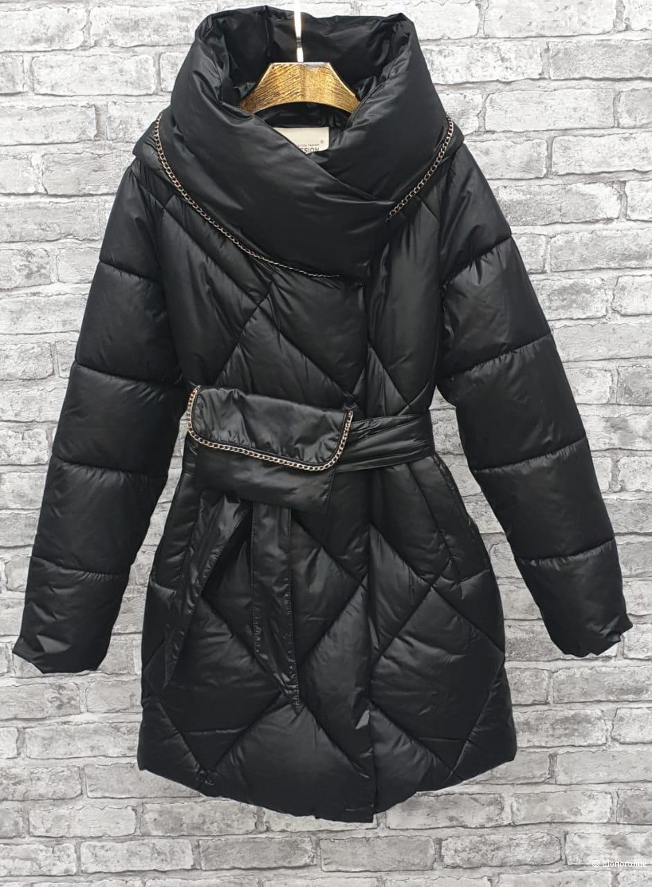Пуховик пальто с сумочкой SNOW PASSION, 42-46