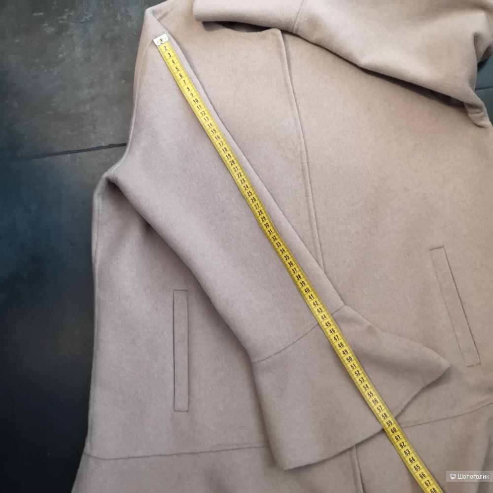 Пальто Zara, полушерстяное, р. L