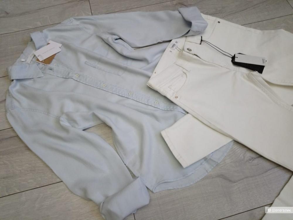 Рубашка из лиоцелла PREMIUM LIMITED MANGO, размер M( оверсайз)