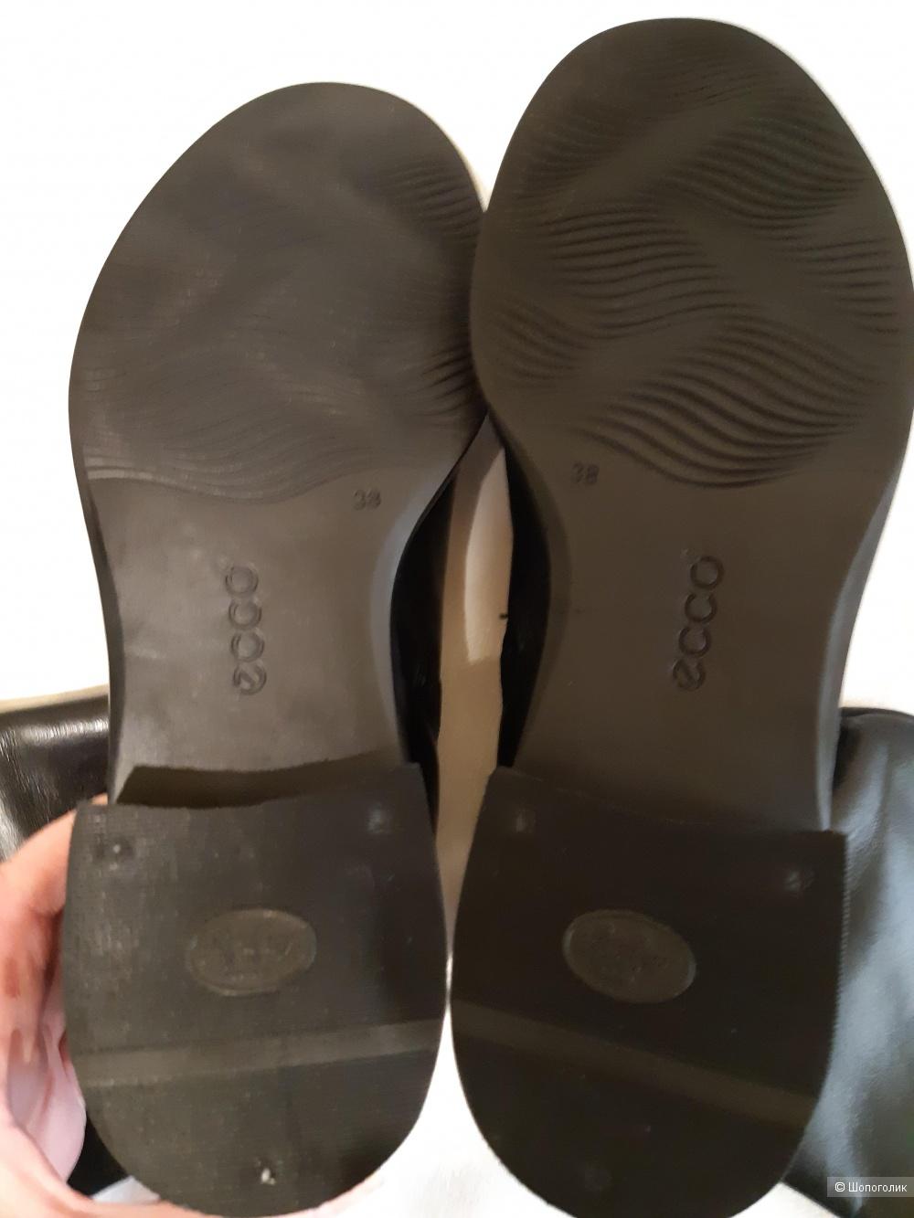 """Сапоги демисезонные кожаные """"Ecco"""" размер 37.5-38"""