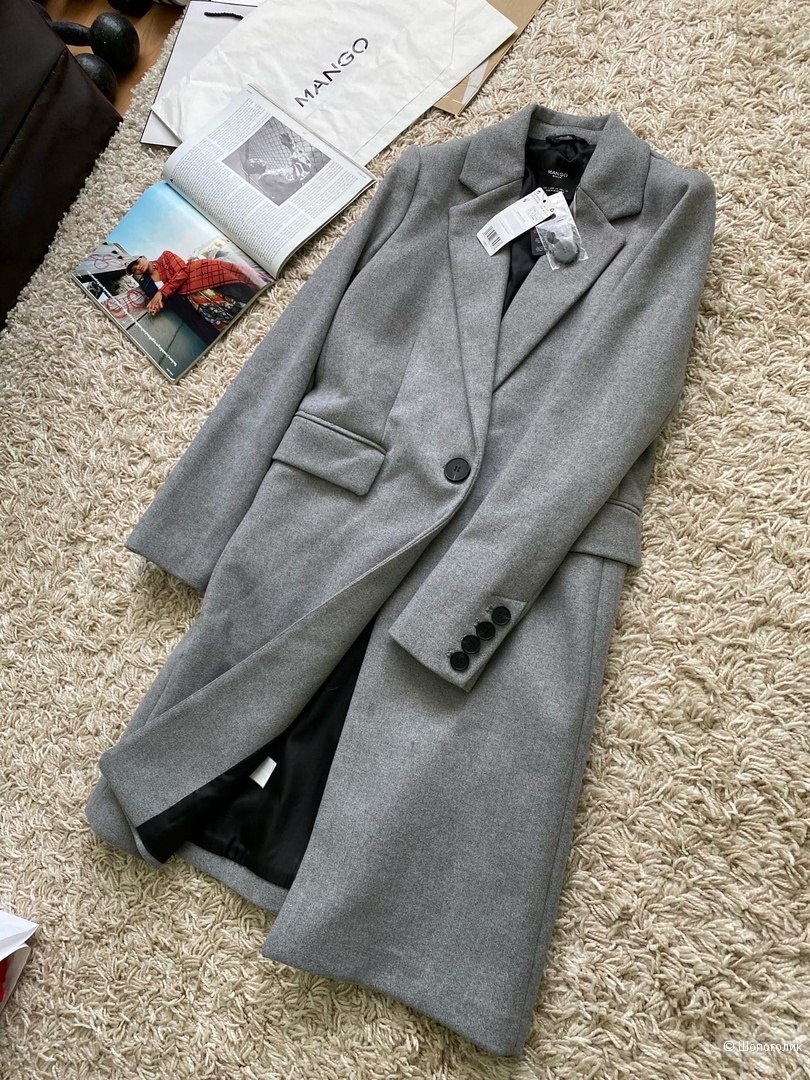 Пальто мужского кроя MANGO, размер XS