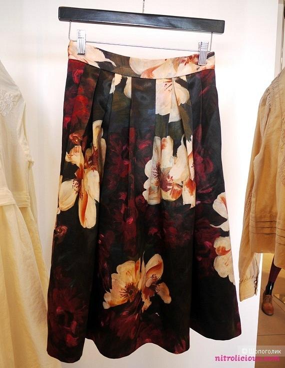 Шелковая юбка HM Conscious , размер евро 36