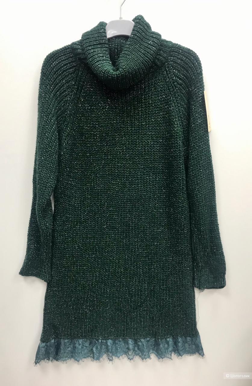 Платье вязаное с кружевом ZYC, 42-50