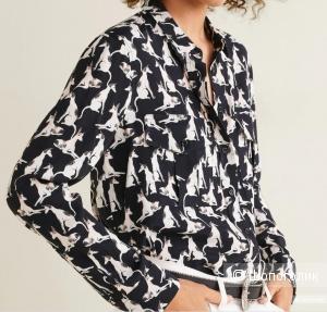 Рубашка с собачками mango, размер M/L