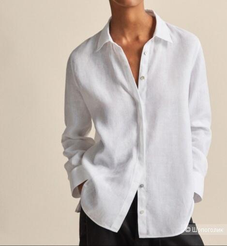 Льняная рубашка marks&spencer, размер 46/48/50