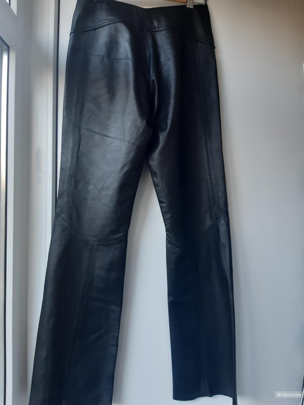 """Кожаные брюки """"Fiocchi"""" Италия, р. 44"""